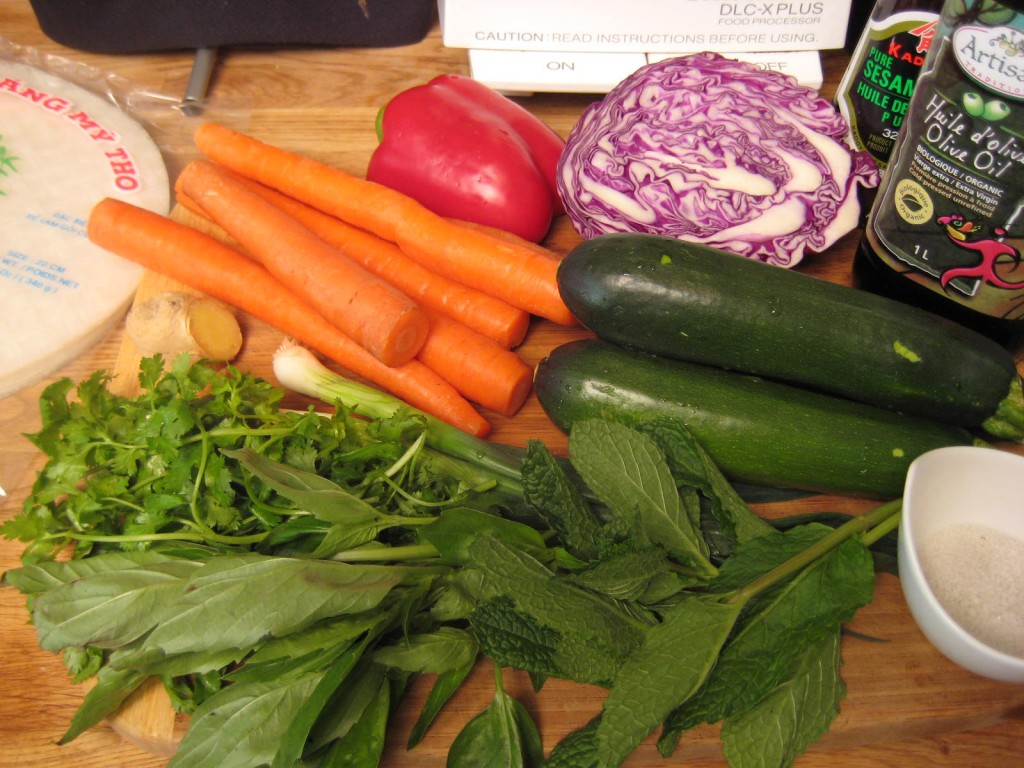 Spring Roll filling ingredients