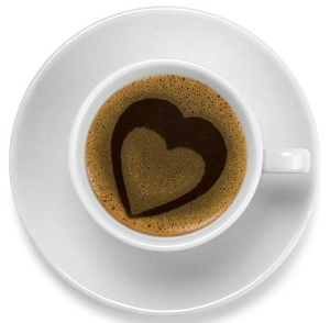 cacao cup with heart
