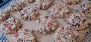 Rawkalicious cookie dough on teflex