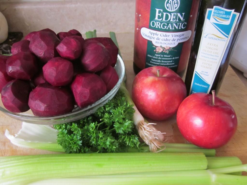 Beet Salad ingredients