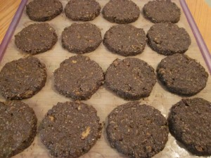Hippie Hemp Chocolate Macaroon Cookies on tray