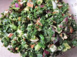 Marinated Kale Salad finished