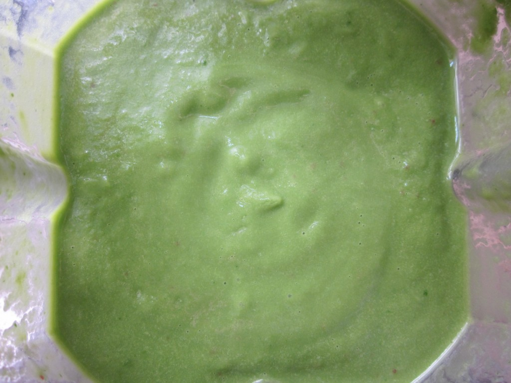 Spinach Herb Soup blended