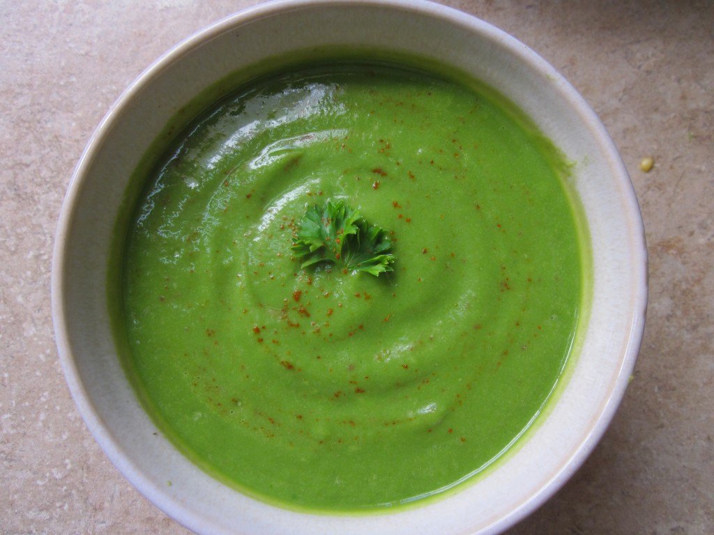 Spinach Herb Soup in bowl