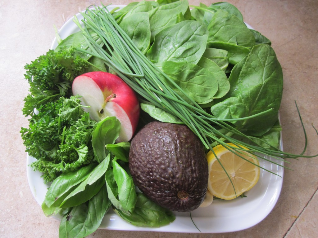 Spinach Herb Soup ingredients