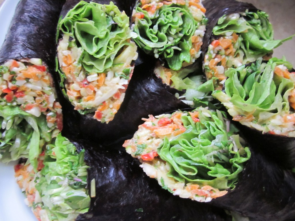 Lots of veggie nori rolls