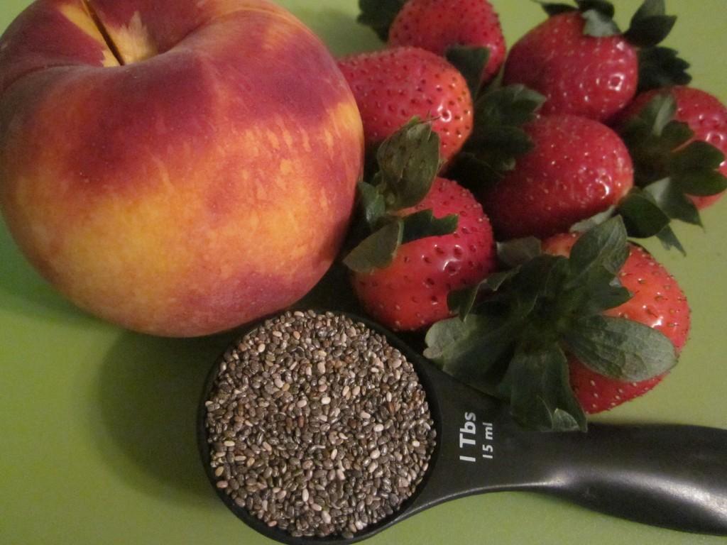 Chia Fruit Bowl peach strawberry