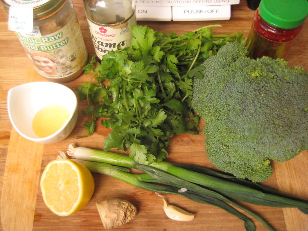Thai Marinated Broccoli ingredients