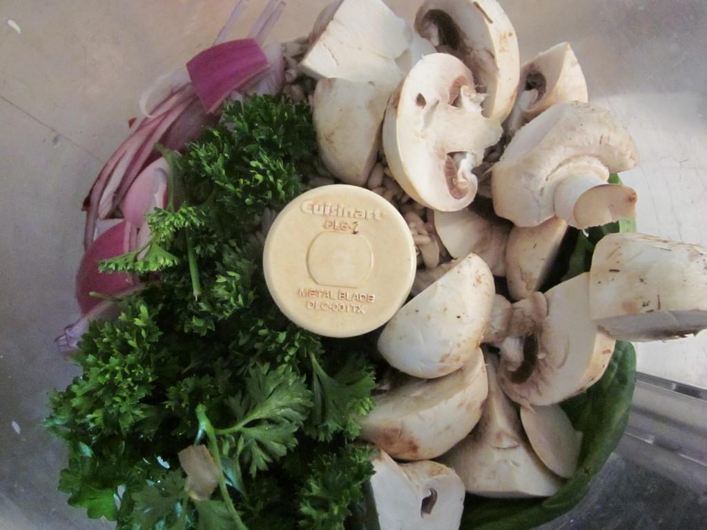 Mushroom Sunflower Pate in processor