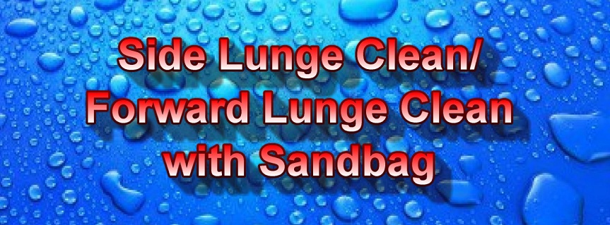 Side Lunge Clean Forward Lunge Clean title