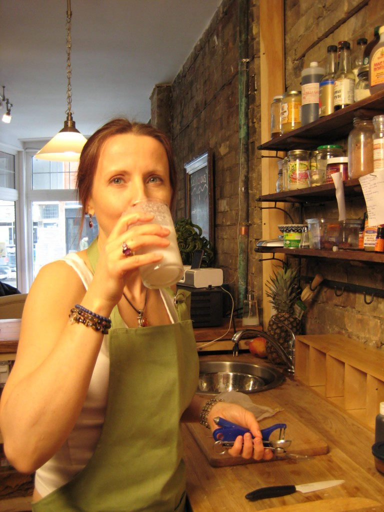 me drinking Coconut Milk made from Young Thai Coconuts