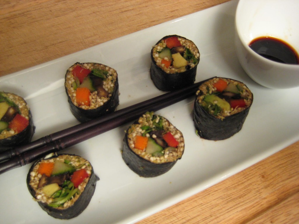 Nori Rolls with Sprouted Quinoa