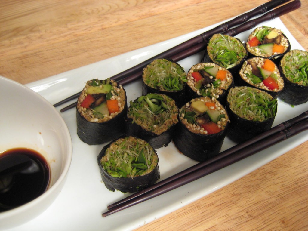 Nori Rolls with Sprouted Quinoa and Sprouts