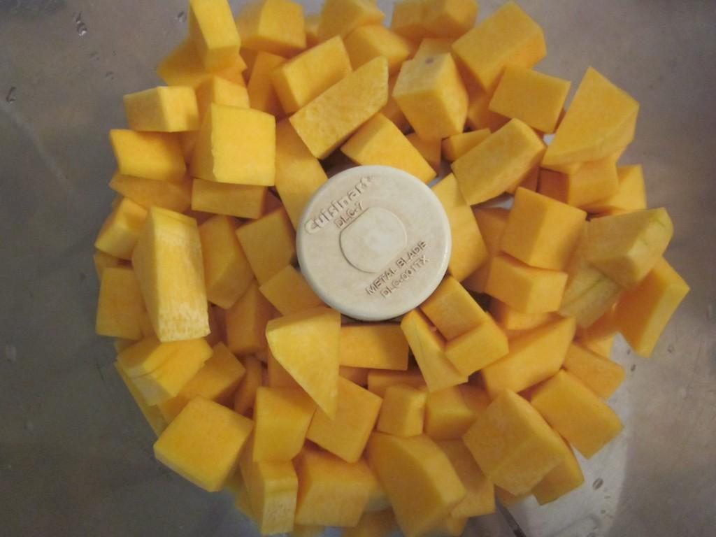 The Best Raw Pumpkin Pie squash in processor