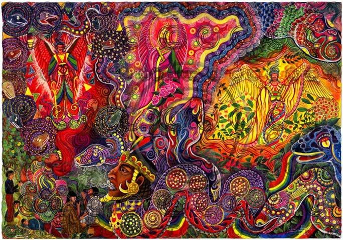 Don Pablo Amaringo Ayahuasca Painting 3