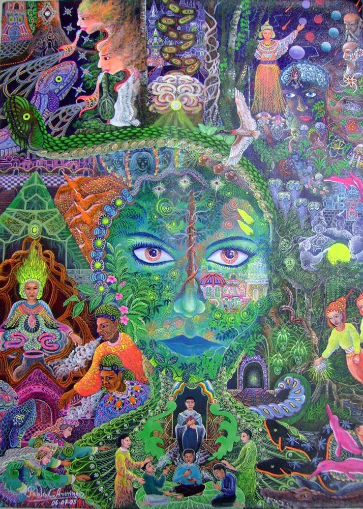 Don Pablo Amaringo Ayahuasca Painting 4