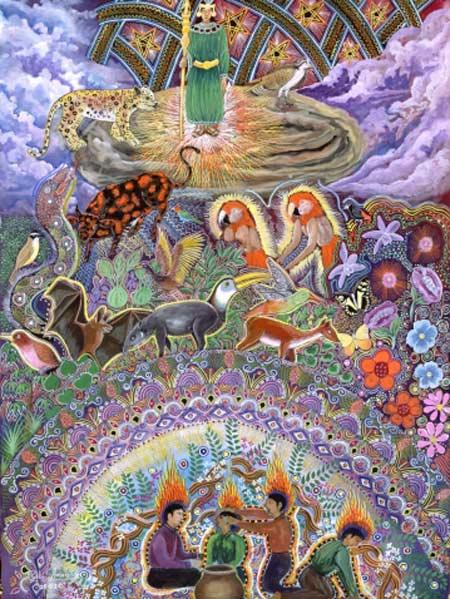 Don Pablo Amaringo Ayahuasca Painting 6