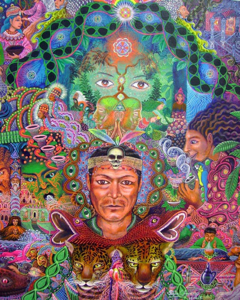 Don Pablo Amaringo Ayahuasca Painting 7