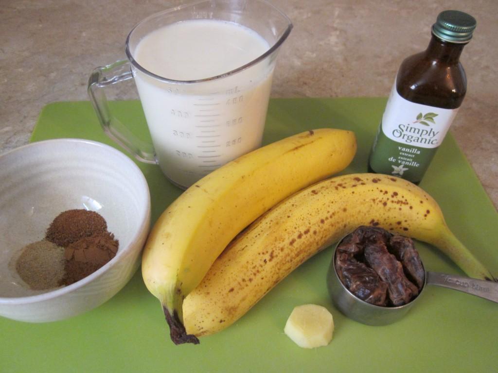 Raw Vegan Chai Nog ingredients