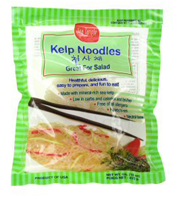 Kelp noodles to make Pad Thai