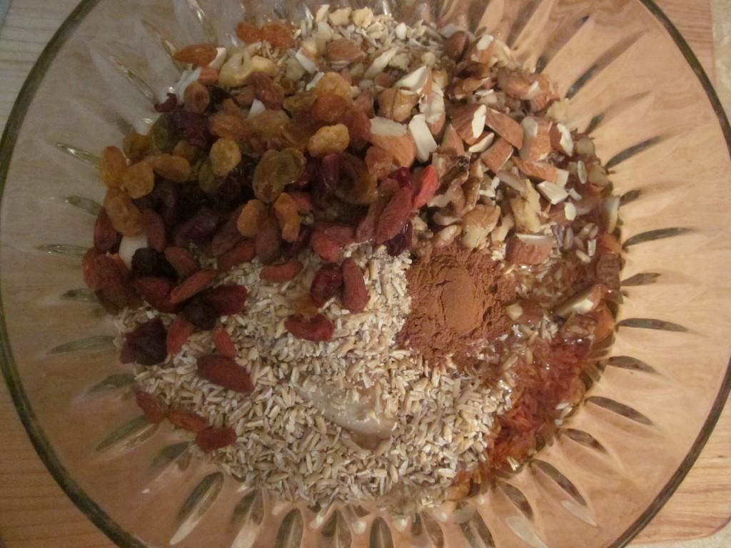 Apple Cinnamon Oatmeal Recipe ingredients in bowl