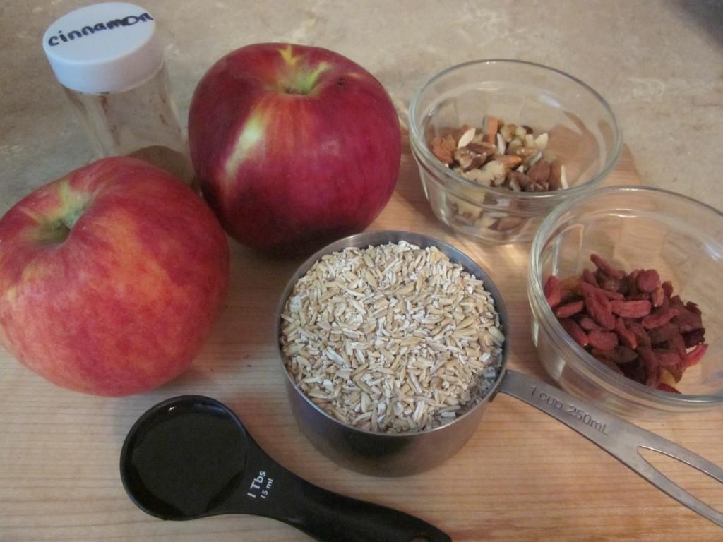 Apple Cinnamon Oatmeal - Healthy Breakfast recipe ingredients