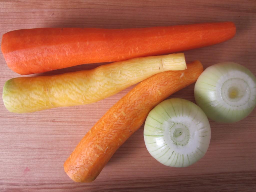 Celriac Leek and Kale Soup Recipe carrots and onions