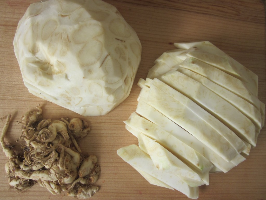 Celriac Leek and Kale Soup Recipe celriac