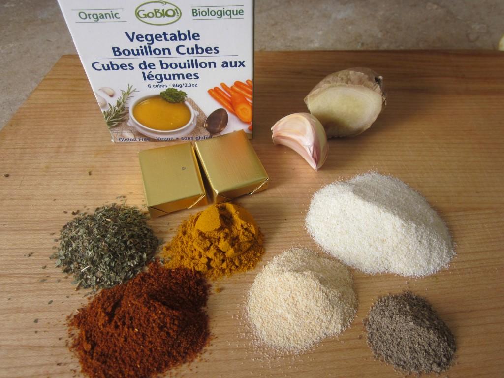 Celriac Leek and Kale Soup Recipe seasonings