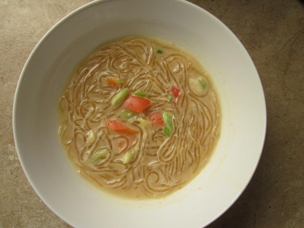 Creamy Miso Noodle Soup in bowl