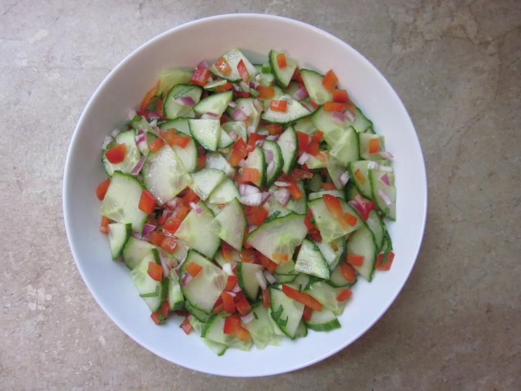 Cucumber Salad Recipe in bowl