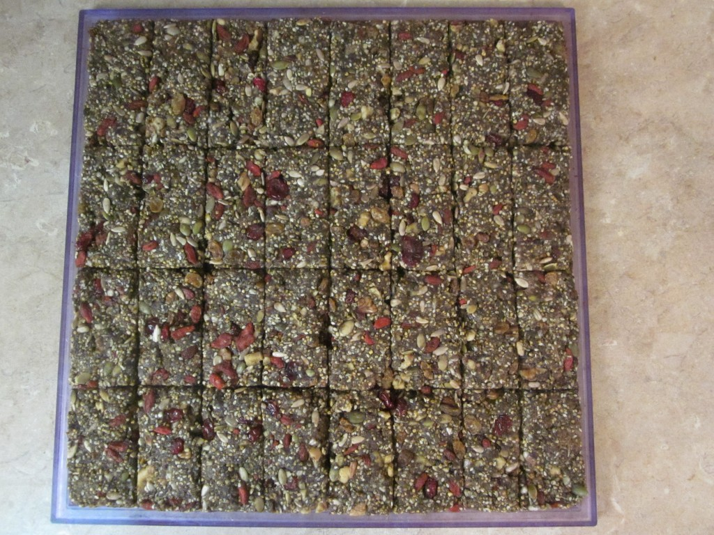Hemp Protein Fruit Nut and Seed Bar Recipe  scored