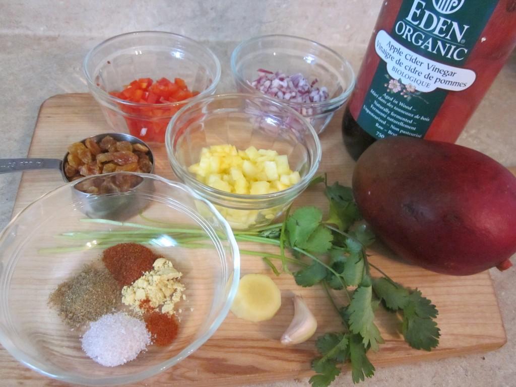 Mango Chutney Recipe ingredients
