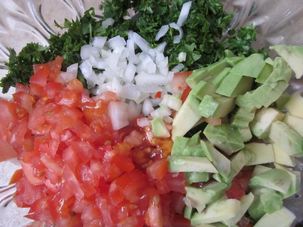 Tabouli Recipe veg chopped