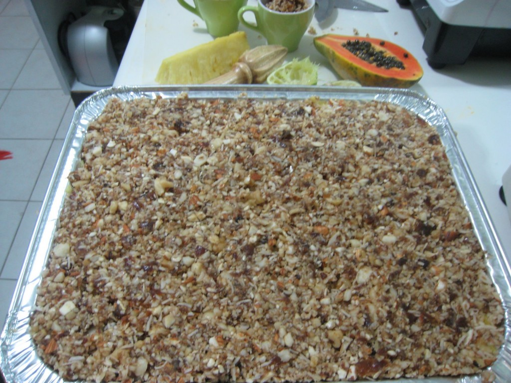 Tropical Fruit Cobbler Recipe topping