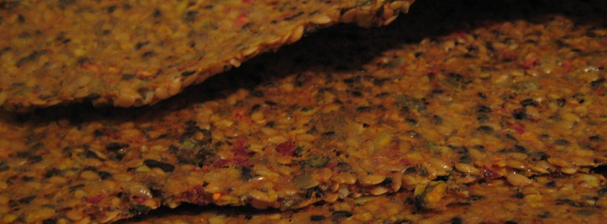 7 Days Eating Raw Foods Plan - Multi seed Crackers