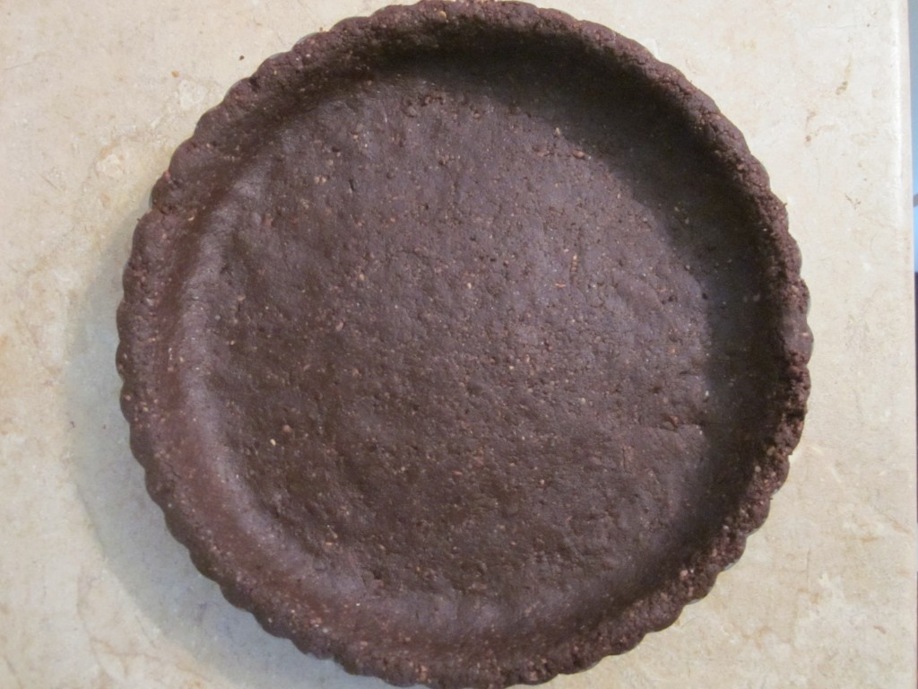 Black Forest Raw Chocolate Ganache Tart Recipe - brownie crust