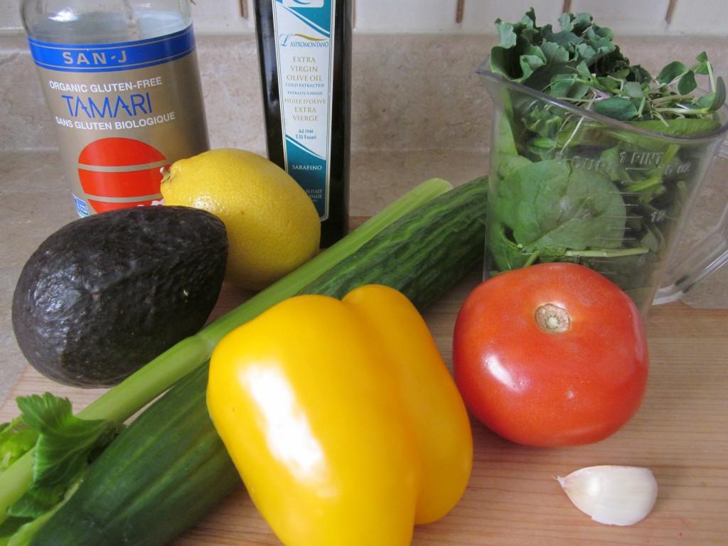 Blended Salad Soup Recipe ingredients
