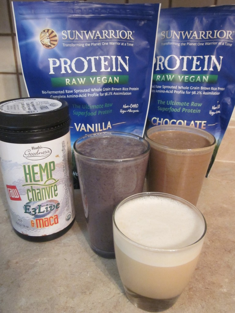 Vegan Protein Shakes -  Creamy Cacao Hemp Protein Shake - Berry Banana Hemp Protein Shake - Vegan Protein Shake