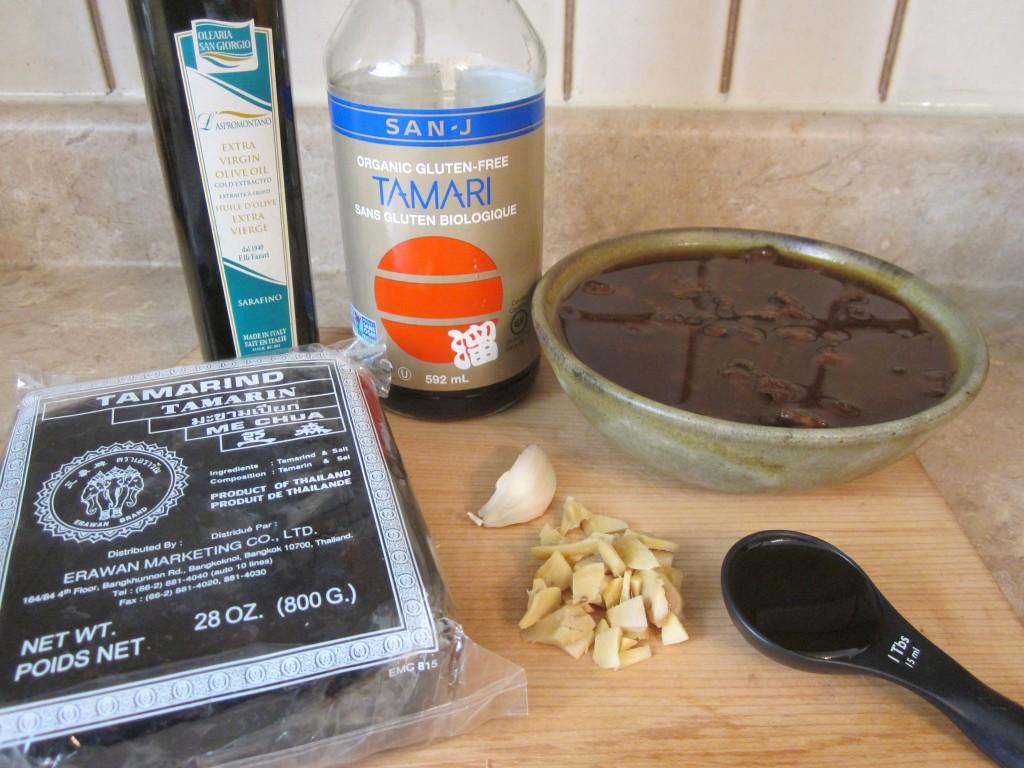 Vegetables in Ginger Tamarind Sauce Recipe - ingredients