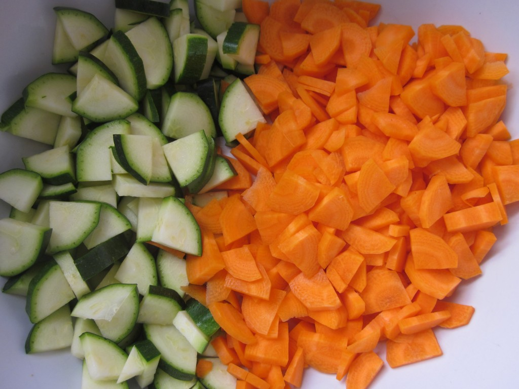 Vegetables in Ginger Tamarind Sauce Recipe -  vegetables - zucchini and carrots