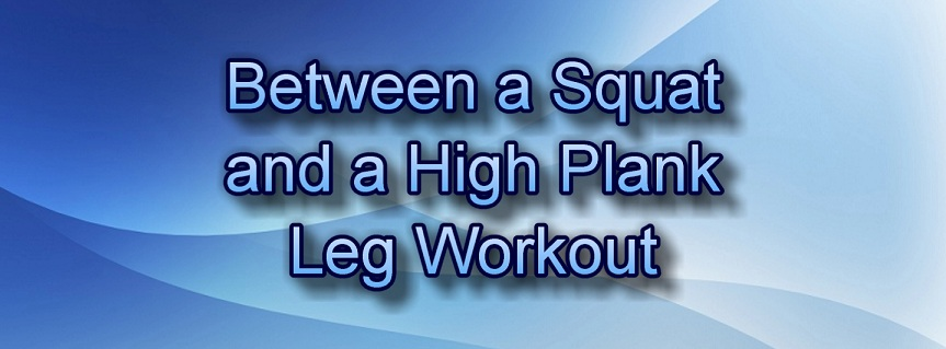 Between a Squat and a High Plank Leg Workout