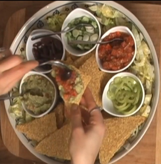 Easy Mexican Guacamole and Raw Nacho Platter
