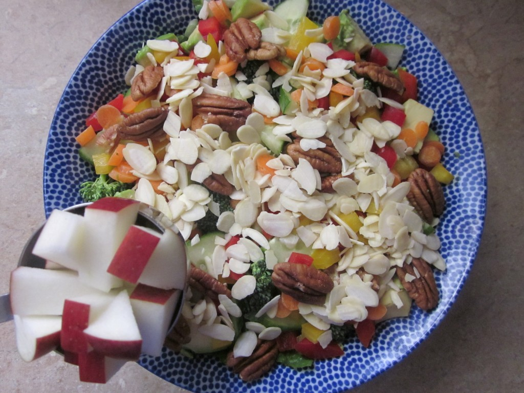 Goddess Bowl 2 with Coconut Lime Salad Dressing Recipe - apple