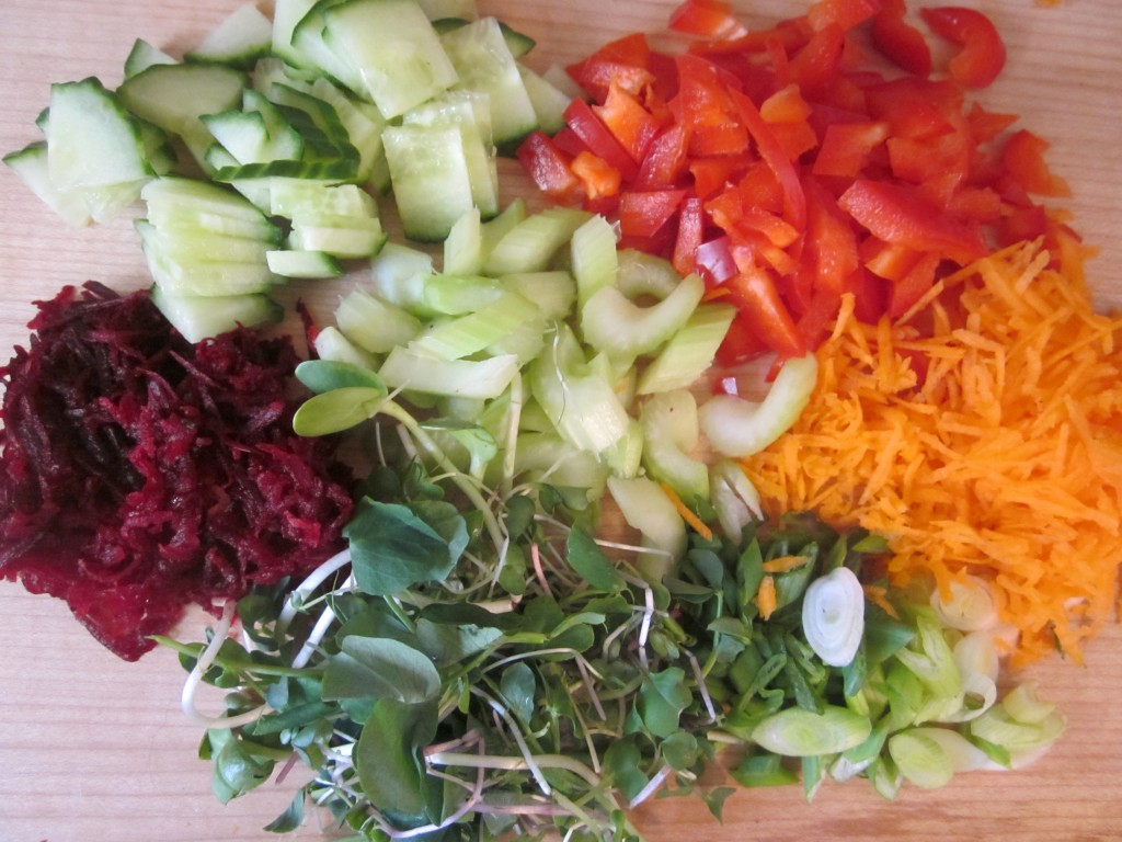 Goddess Layered Salad Recipe - vegetables