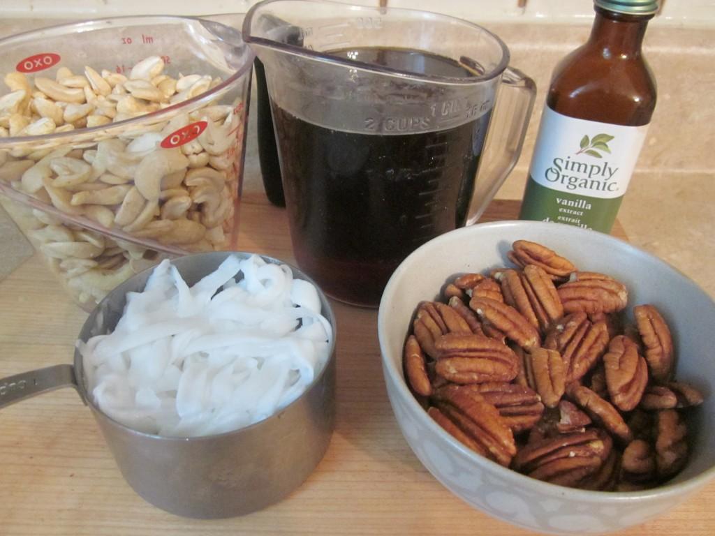 Maple Pecan Raw Vegan Ice Cream Recipe ingredients