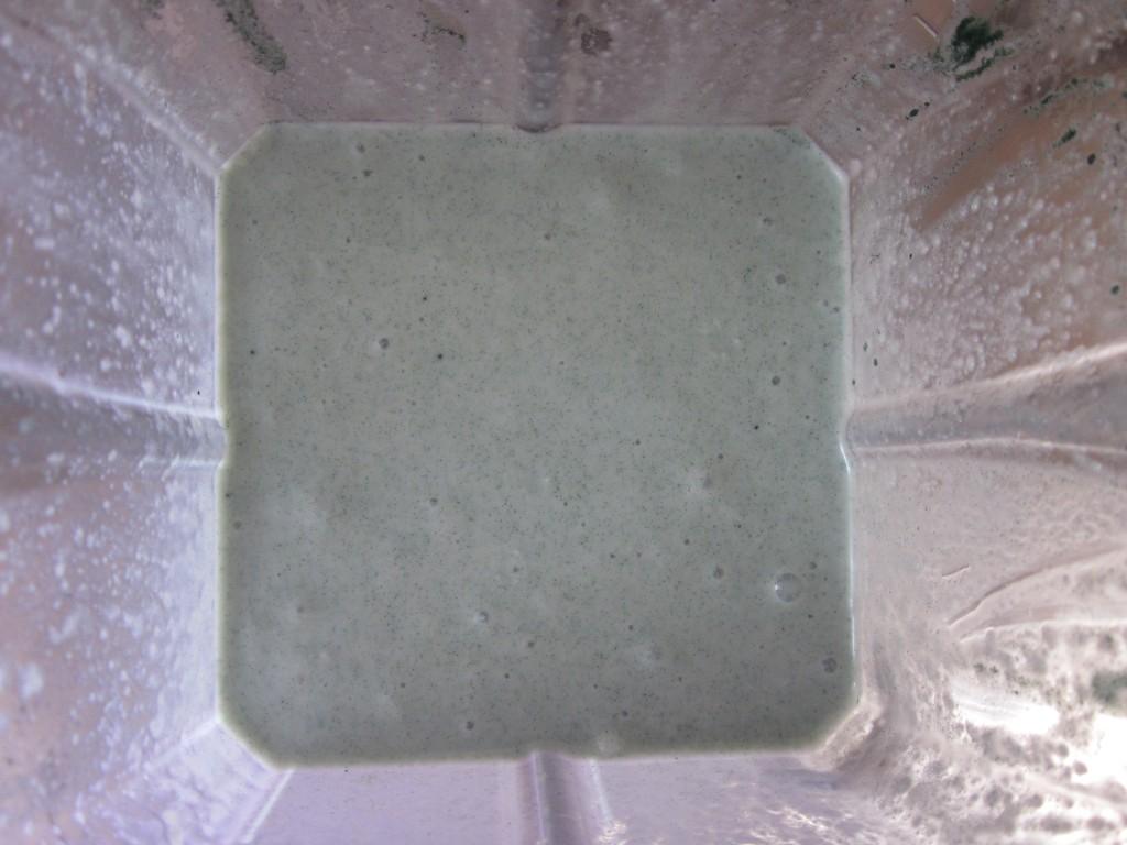 Mint Shamrock Shake Recipe - in blender