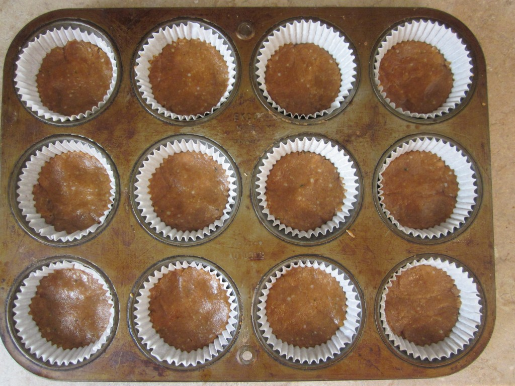 Protein Peanut Butter Cups Recipe - press filling in tray