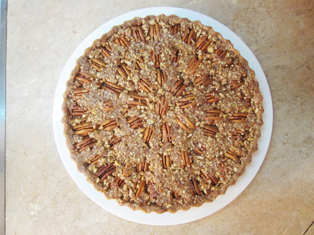 Raw Pecan Pie Recipe on Plate