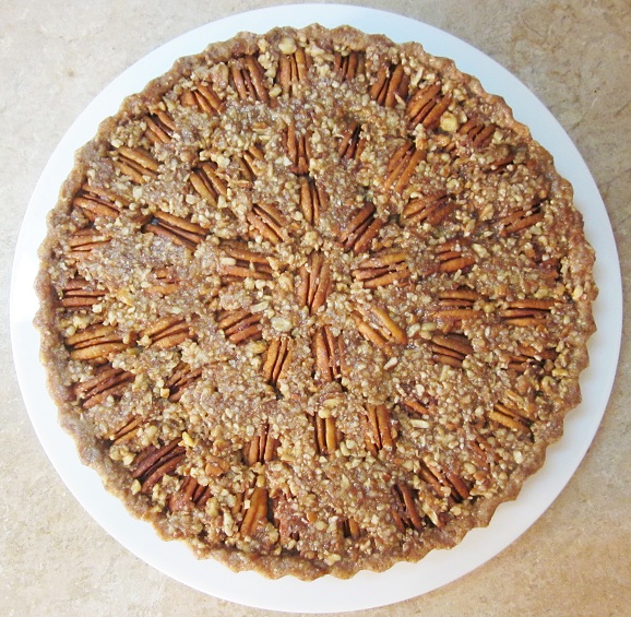 Raw Pecan Pie Recipe on a Plate